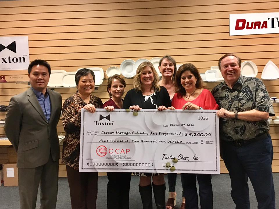 C-CAP Receives Check from Tuxton Inc.
