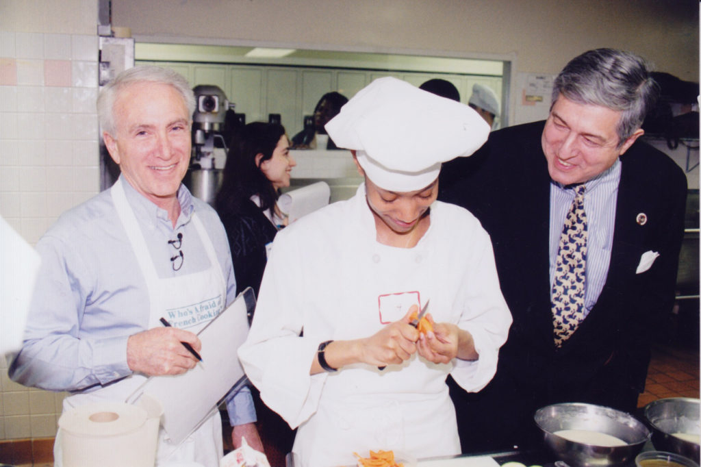 Richard Grausman with Student and Tim Zagat